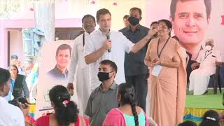 Shri Rahul Gandhi interacts with students at St. Joseph's Matric Hr. Sec. School in Tamil Nadu