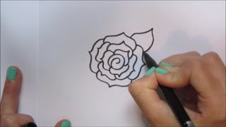 Cartoon roos/rose tekenen! | 'How to draw' #44 Mp3