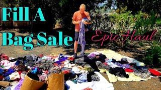 $5 FILL A BAG SALE! ~ Yard Sale Clothing Haul ~ Garage Sale Haul To Resell On Poshmark & Ebay