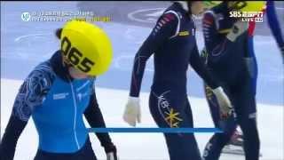 Gambar cover 2012-13 ISU 쇼트트랙 월드컵 5차 여자 1000m 결승 박승희 심석희
