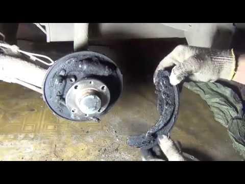 Замена задних тормозных колодок на Лада Гранта с ABS