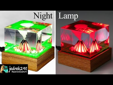Fire, Campfire DIORAMA - Night Lamp / ART RESIN