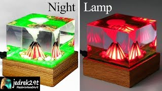 Fire, Campfire DIORAMA - Night Lamp / ART RESIN