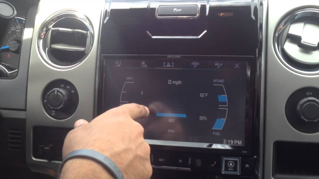 Ford F 150 Alpine In Dash Navigation Youtube