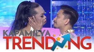 OMG! Vice, pinagbigyan ang hiling ng Miss Q and A na halikan si Jhong! 😘😂