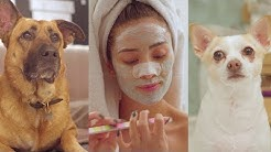 My Dog Narrates My Skincare Routine | Shay Mitchell