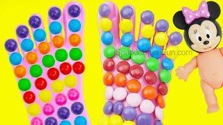 Learn Colors Balls Feet Jelly bean Surprise Toys Superhero Play Doh Fun and Creative Kids EggVideos