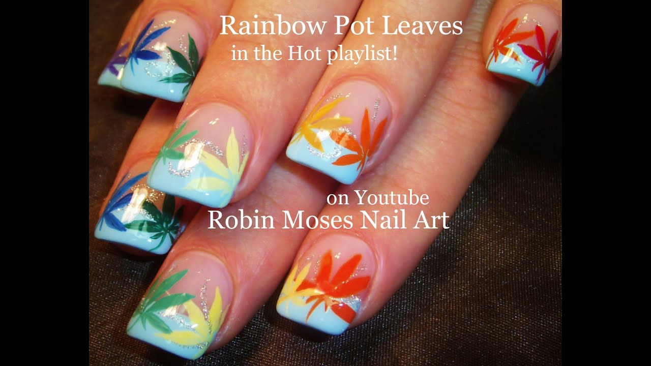 DIY Marijuana Manicure Nail Art Tutorial