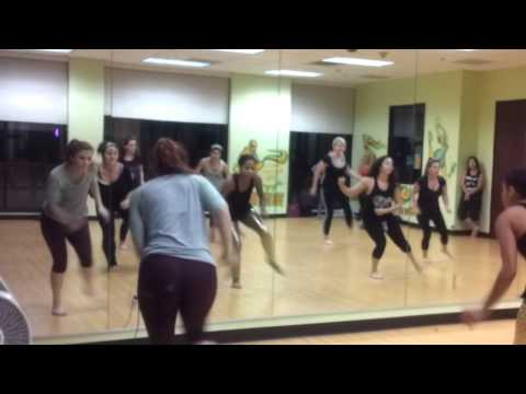 I was a guest teacher at this studio to teach an adult class. Enjoy! I'm dancing with them in the gold leggings.