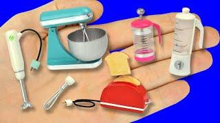 DIY miniatures blender, toaste…