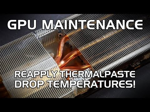 GPU Maintenance: lower temperatures with new thermalpaste! Clean Mining GPUs