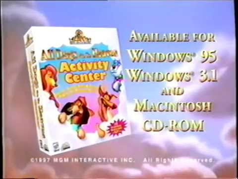 All Dogs Go To Heaven Activity Center (1997) Promo (VHS Capture)