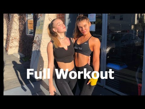FULL WORKOUT - Model Workout with Cambrie Schroder & Faith Schroder - Booty, Abs and Cardio Workout