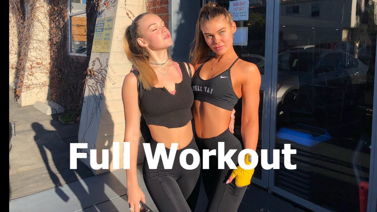 FULL WORKOUT - Model Workout with Cambrie Schroder & Faith Schroder - Booty, Abs and Cardio Work
