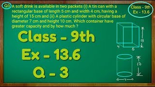 Class 9th , Ex - 13.6, Q 3 ( Surface Areas and Volumes ) CBSE NCERT screenshot 2