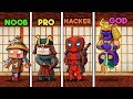 Minecraft - SAMURAI DOJO! (NOOB vs PRO vs HACKER vs GOD)