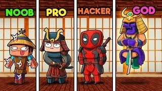 Minecraft - SAMURAI DOJO! (NOOB vs PRO vs HACKER vs GOD)