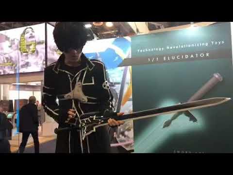 1/1 Elucidator By Cerevo Tech Toy Sword At CES Las Vegas #CES2018