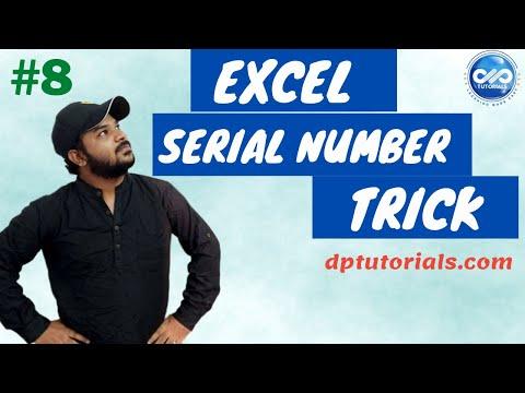 Excel Tricks : How To Quickly Generate Serial Numbers In Excel     Serial Numbers    Dptutorials