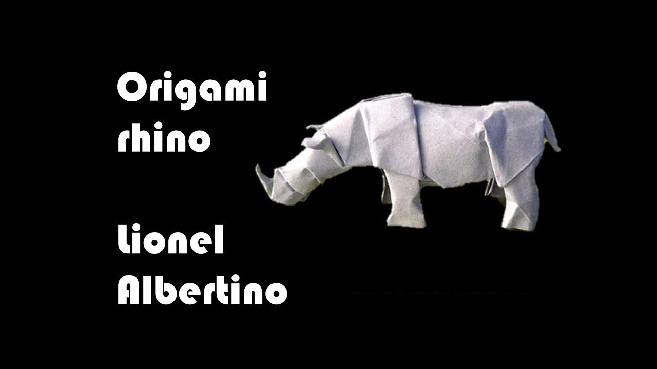 tutorial rinoceronte origami