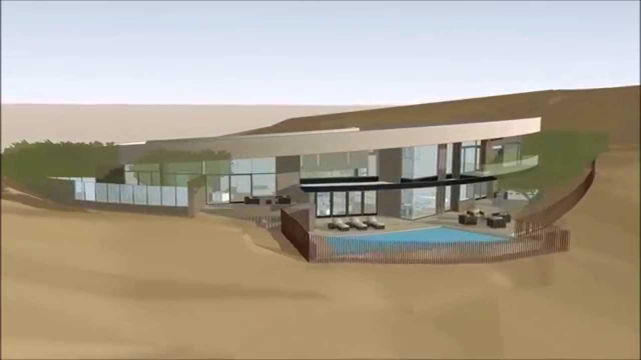 contour house architectural design rendering by brent kendle aia leed ap - Site House Designs