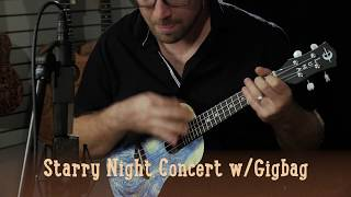 Starry Night Concert Ukulele with Gigbag
