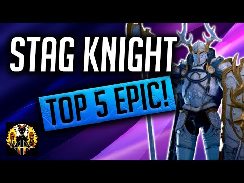RAID: Shadow Legends | STAG KNIGHT GUIDE | TOP 5 EPIC! Also new fusion??