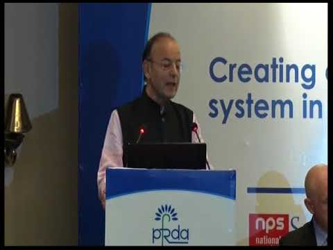 Shri Arun Jaitley addressing the audience at the 4th Pension Conference