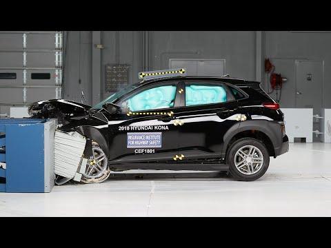 2018 Hyundai Kona Moderate Overlap IIHS Crash Test