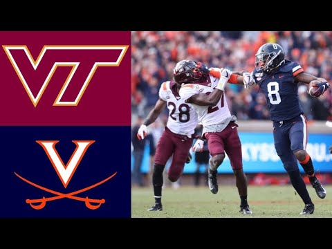 #24 Virginia Tech vs Virginia Highlights | NCAAF Week 14 | College Football Highlights