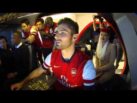 A380 Flight Simulator Challenge - France and Spain | Arsenal | Emirates Airline