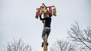 Масленица !!! Конкурсы на масленицу!!! Самый высокий столб !!!