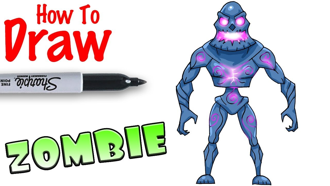 How To Draw Zombie Fortnite Youtube