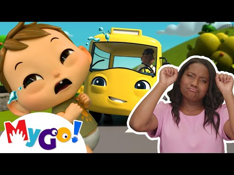 Wheels On The Bus | ASL - American Sign Language | Baby Songs | Little Baby Bum