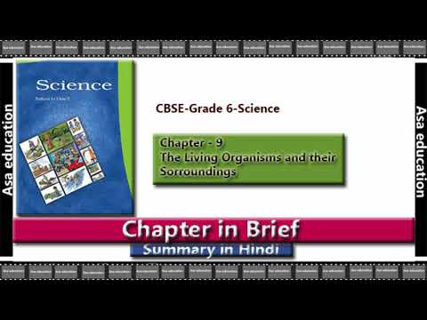 Ch 9 The Living Organisms and their Surroundings (Science, CBSE, Grade 6) Summary in Hindi