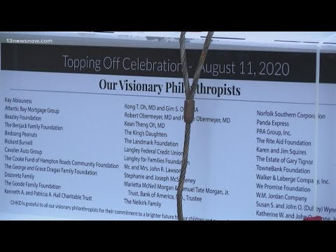 Topping-off Ceremony Held For Newly Constructed CHKD Mental Health Facility