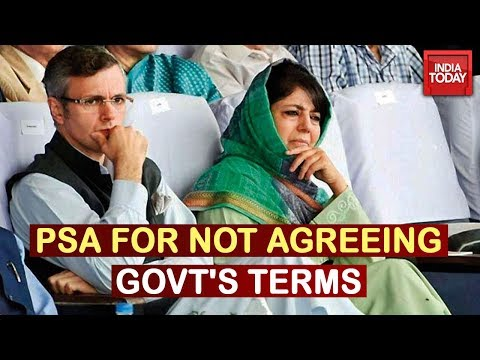 PSA Imposed On Omar Abdullah & Mehbooba Mufti For Not Agreeing To Govt's Terms