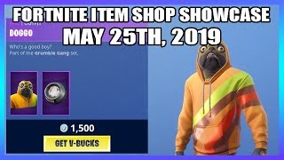 'NOUVEAU' DOGGO SKIN - CHEW TOY PICKAXE! (Fortnite Item Shop 25 mai)