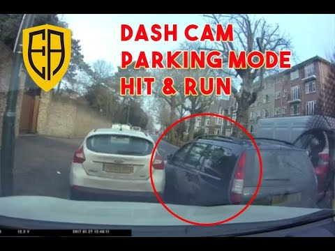 Dash Cam Parking Mode Captures Hit and Run Park Mode Kew, London UK