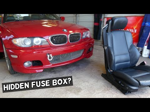 Bmw E46 Hidden Fuse Box Location Under Seat Youtube