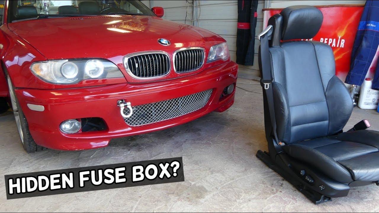bmw e46 hidden fuse box location under seat [ 1280 x 720 Pixel ]