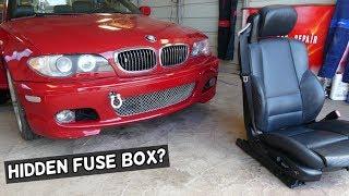 BMW E46 HIDDEN FUSE BOX LOCATION UNDER SEAT - YouTube  YouTube