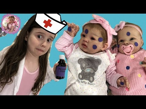 *SICK REBORN BABIES!* CAN DOCTOR ALIYAH HELP?  For Theme Thursday - Polka Dots & Purple