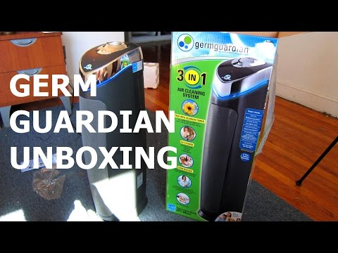 Unboxing Germ Guardian AC5000 HEPA filter with UV-C light