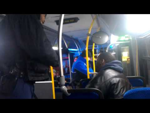 1 of 2 WMATA Police vs  rider with loud headphones New Carrollton md 2 6 14