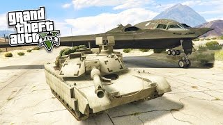 GTA 5 PC Mods - REAL LIFE ARMY MOD! GTA 5 Stealth Bomber & M1 Abrams Tank Mod! (GTA 5 Mod Gameplay)