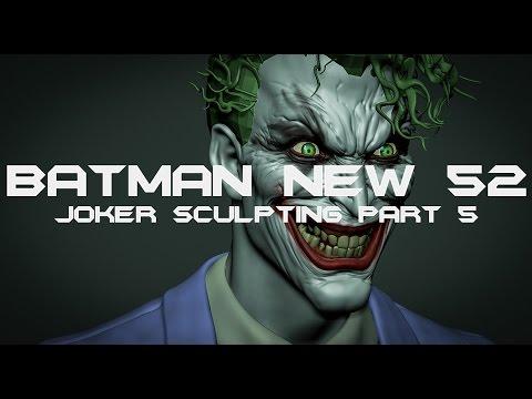 Batman New 52: Joker Sculpting Part 5