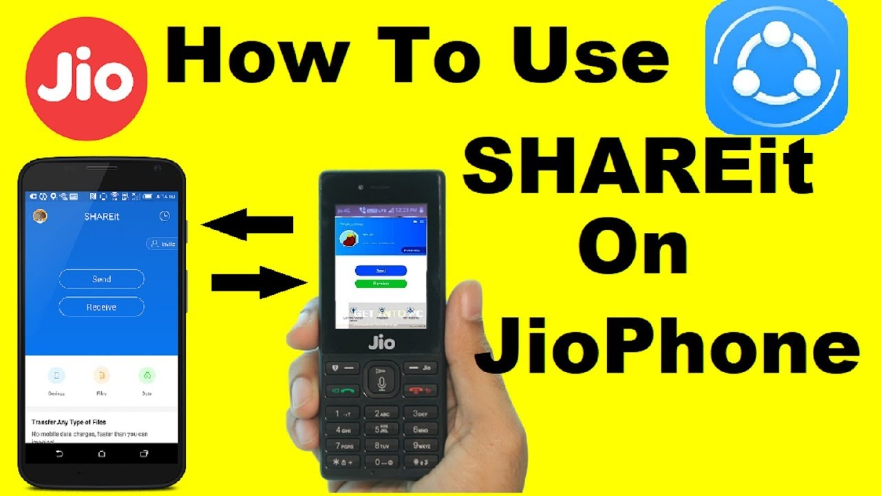 How To Use SHAREit In JioPhone Without Data | Jio Phone share video,photos  use shereit in jio phone