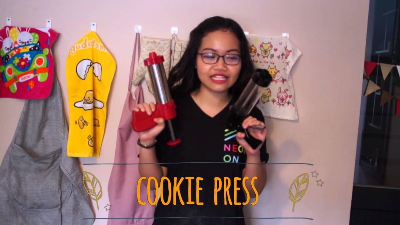 Cách tạo hình/làm bánh quy với máy Cookie Press RaNee