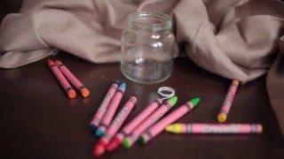 Как сделать красивую свечу из восковых мелков